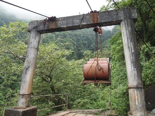 吊載物資的索道