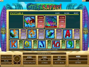 free Surf Safari slot payout