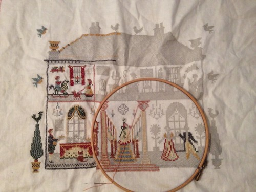 Unfinished house cross stitch
