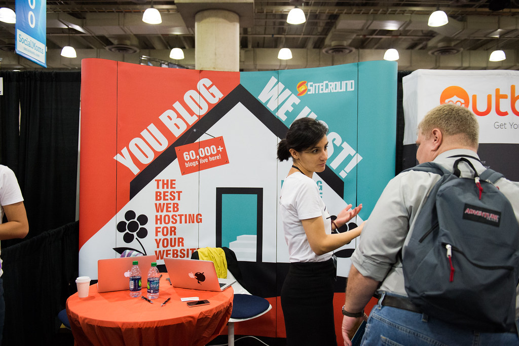 The SiteGround Booth at BlogWorld & New Media Expo