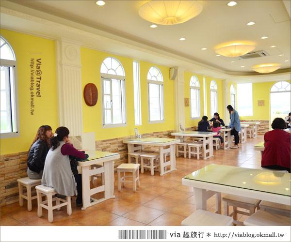 【彰化大村】進昌咖啡烘焙館~田園中的黃色歐式城堡!20