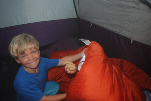 hide and seek inside the tent!