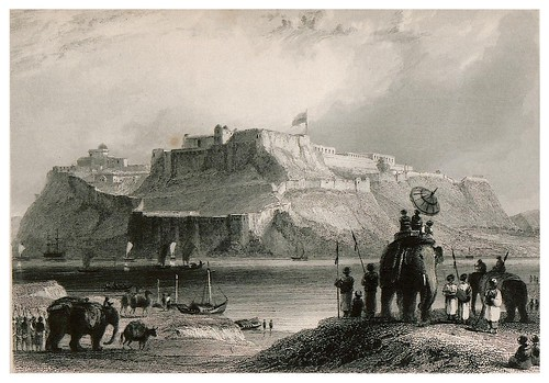 012-Fortaleza de Chunar en el Ganges-The oriental annual, or scenes in India 1835-1840- William Daniell-© Universitätsbibliothek Heidelberg