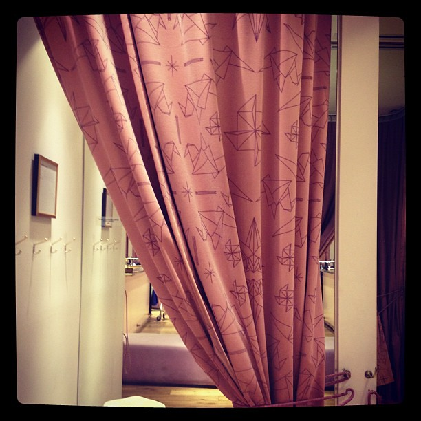 Origami dressing room curtains flickr photo sharing for Origami curtain