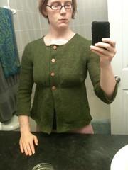 Green linen cardi done