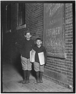 Newsies. Isaac Solovitch, 12 years old, David Solovitch, 7 years old. Sell after school until 9:30 or 10 P.M. Earn about 15 cents each a day. Lawrence, Mass, November 1910