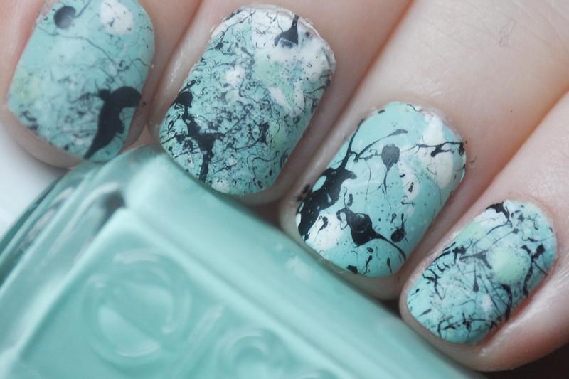 jackson pollock style splatter nails notd nail polish art 3