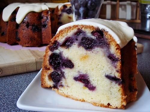 Blueberry White Chocolate Buttermilk Bundt with Cream Cheese Glaze