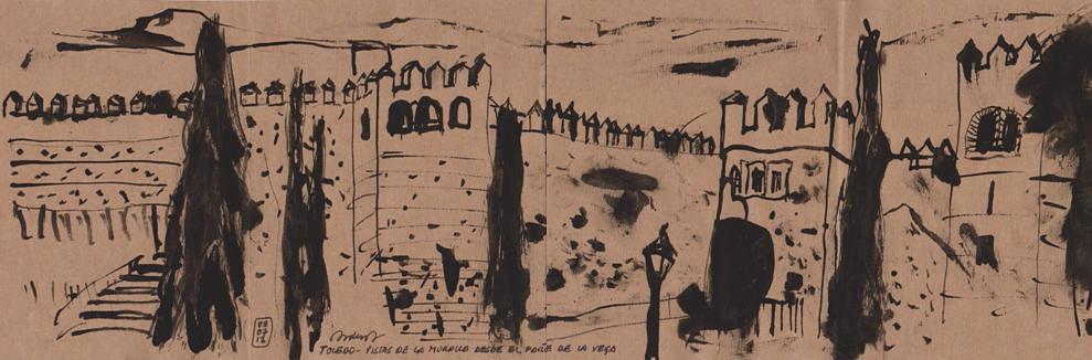 Toledo - Vistas de la muralla desde el parque de La Vega
