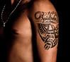 Neidinha tribal tatoo right arm tatoo Neidinha