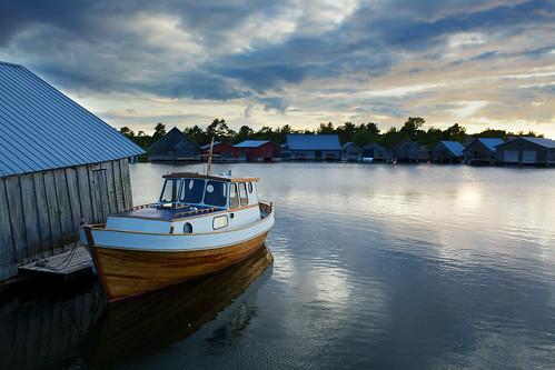 sunset sea summer sky water finland boat midsummer åland canonef1740mmf4l eckerö