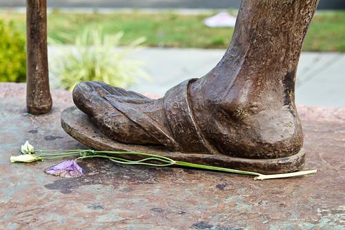 Gandhi's foot