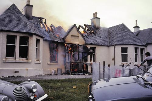 Isle of Skye Scotland - Uig youth hostel on fire 1978