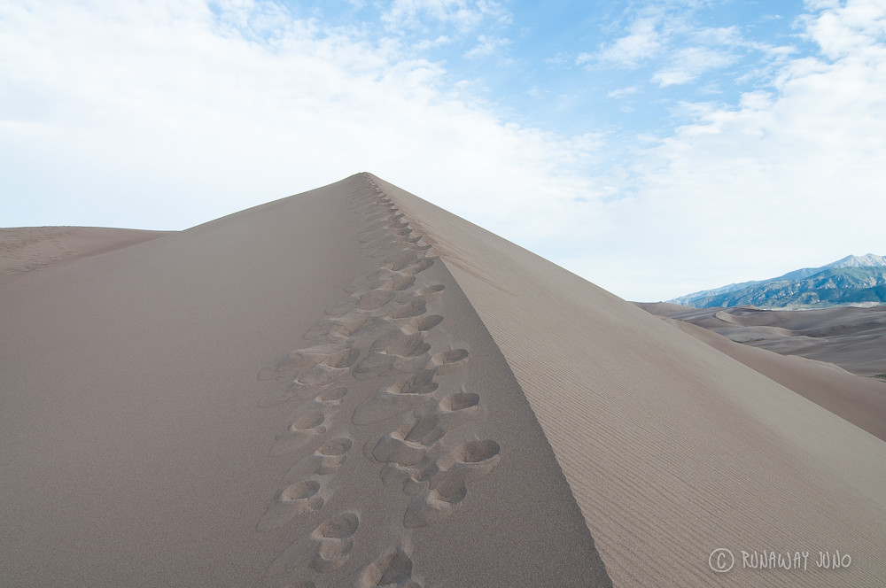 The Great Sand Dunes almost at the top