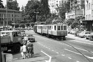 Mixed tram/train in Locarno