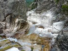 Remontée de la Frassiccia : après la redescente du col, vue du haut du ressaut contourné
