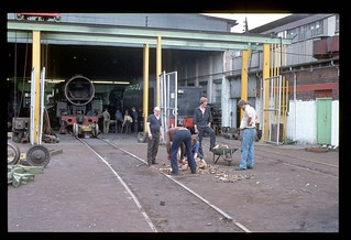 019. 1980-12. Germiston (SA) Loco Maintenance Shop - South African Railways.