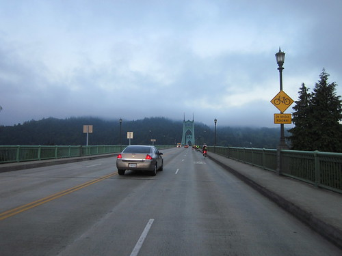 Riders on the St Johns Bridge