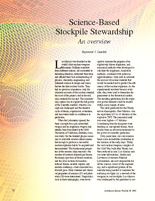 Science-Based Stockpile Stewardship An Overview