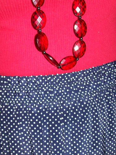 necklace, skirt detail