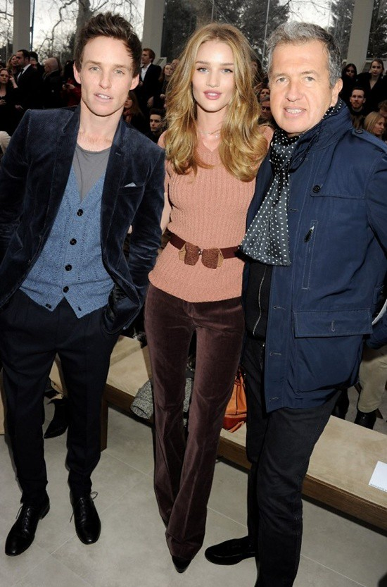 99-3 Eddie Redmayne Rosie Huntington-Whiteley and Mario Testino