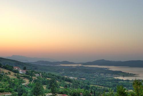 sunset lake thessaly plastira karditsa flickrandroidapp:filter=none