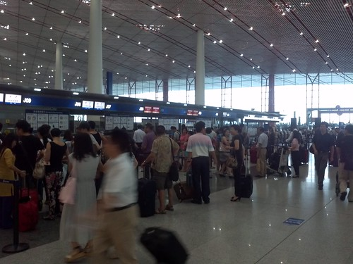 Ticket counter at beijing airport