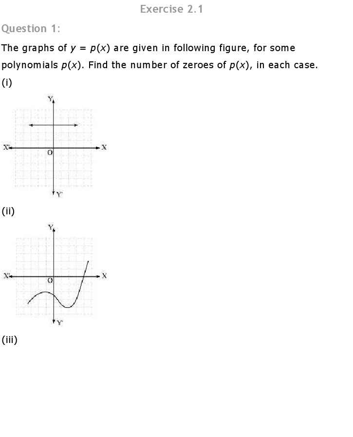 Ch 2 Polynomials: Maths Class 10 NCERT Solutions Download