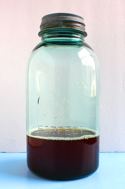 Blue iced tea jar