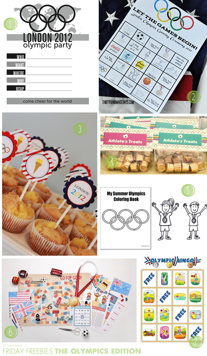 {friday freebies} the olympic edition