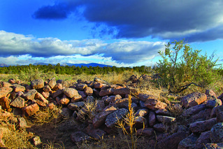 Native American ruins observed in the Pajarito Plateau. LANL archeologists have identified more than 1,000 archeological sites on Laboratory property, spanning 7,000 years.