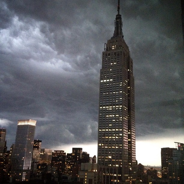 #EmpireStateBuilding in the middle of the #NYC storm