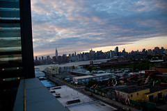 View of Brooklyn & Manhattan from the Wythe Hotel Rooftop - Williamsburg, BK