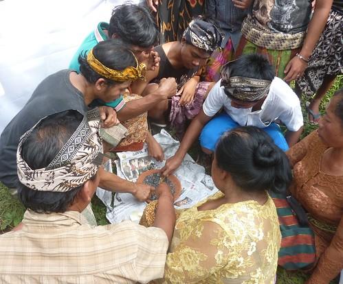 Bali-Funéraille hindoues-Après la crémation (4)