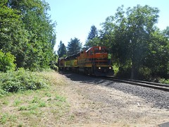A P&W train waits for the mainline to clear (2 miles down the road)
