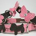 Stitched Dog Ellie Flower and Butterfly Collars Cotton Candy and Brown