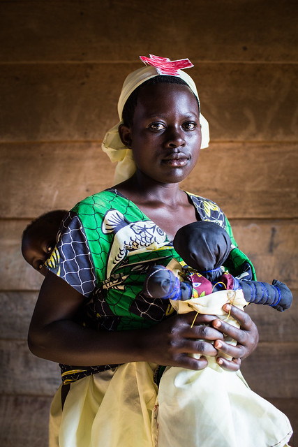 """Françoise, Nurse, Democratic Republic of the Congo.<br /> <br /> """"I am 15 years old and I have a child named Chance. He is 1 year old. When I go to school, I am not ashamed of anything. But others cannot understand why I am a student while I already have a child. I tell them that if I study, it is precisely because I want to help my child."""""""