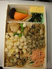 Shinagawa, bento of lots of shellfish