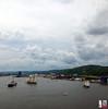 Pride of Baltimore II and Denis Sullivan in the harbor