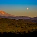 Mt Hood with Moonrise by dave dube'