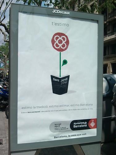 Sant Jordi Poster 2012 by simonharrisbcn