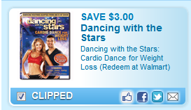 Dancing With The Stars: Cardio Dance For Weight Loss (redeem At Walmart)  Coupon