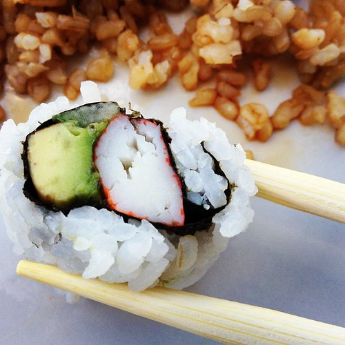 California rolls are my favorite! #sushi