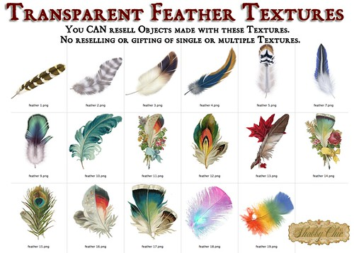Shabby Chic Feather Textures by Shabby Chics