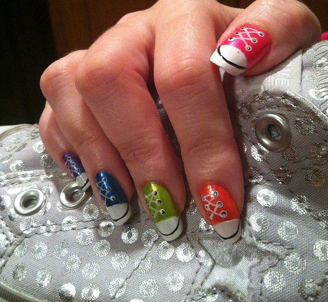 Nail Art Couture Converse Nail Art: As If A Pair Of Converse Was Not