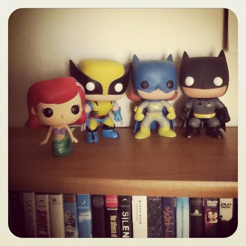 My #PopVinyl collection! #batman #wolverine #ariel