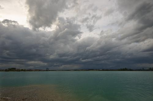 lake storm weather clouds day croatia april kisa hrvatska oluja travanj jezero oblaci vrijeme novocice pentaxk5 jezeročiče lakecice