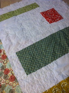 Quilting detail on back