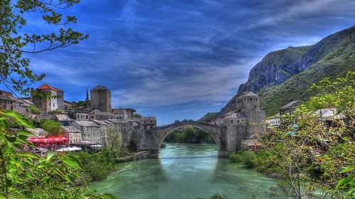 Mostar old bridge HDR