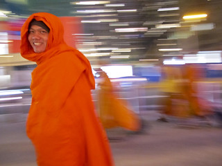 happy monk in times square